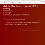 poll: diversity in STEM: why do you give a ****, or why not (informal MIT survey)