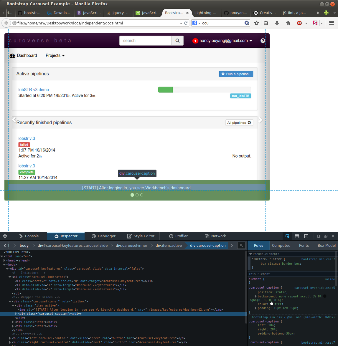 Bootstrap carousel tutorial getting started then customizing screenshot from 2015 01 21 164434 baditri Gallery