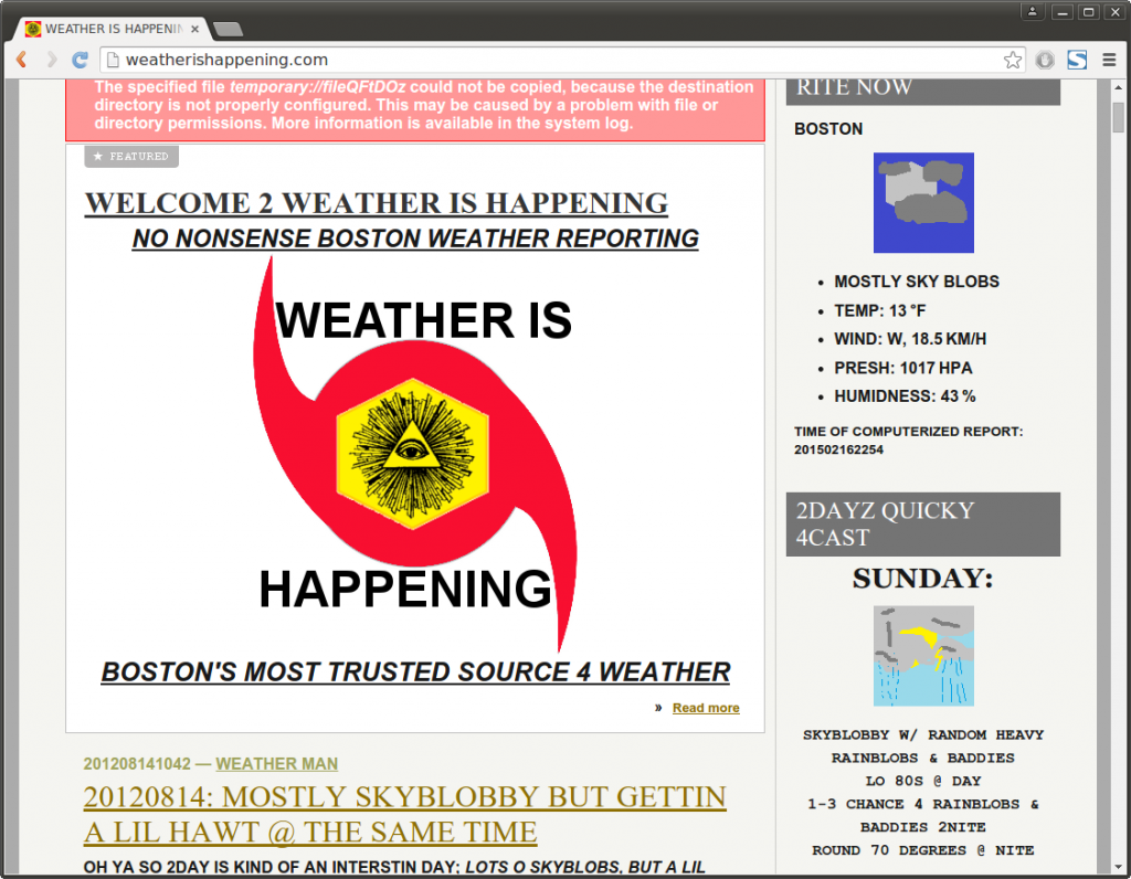 weatherishappening.com SNOBLOBS