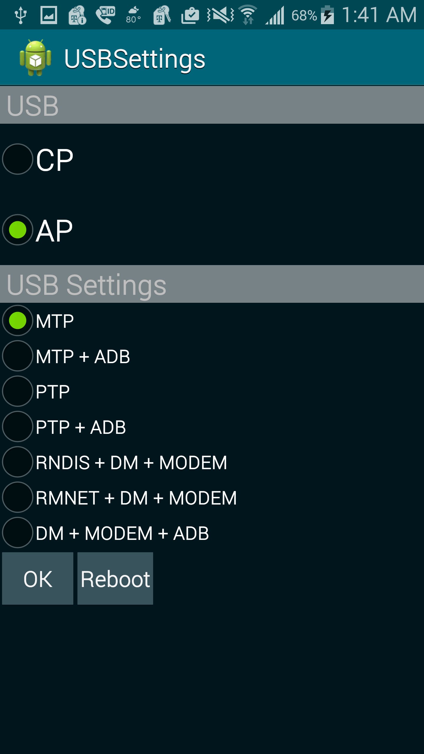 No USB MTP/PTP menu? Just dial *#0808# to enable USB Storage