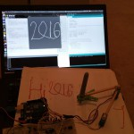 hi 2016 (2 servo drawing robot arm, tripod gait 12 servo hexapod, visit to NASA, quadcopter tuning, etc.)