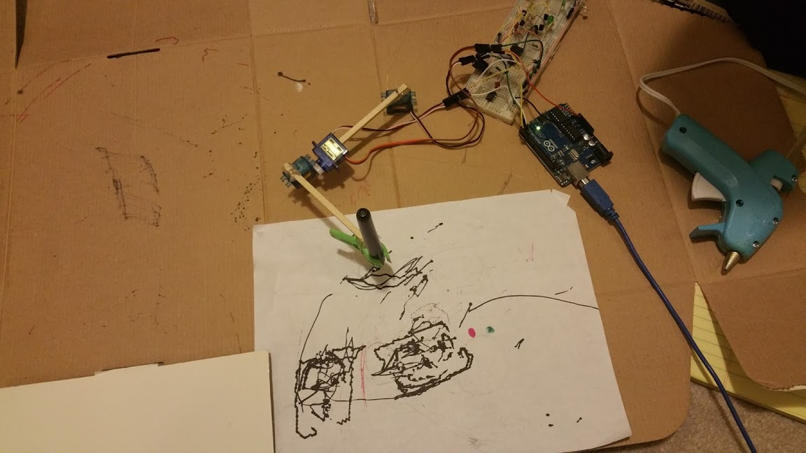 hi 2016  2 servo drawing robot arm  tripod gait 12 servo