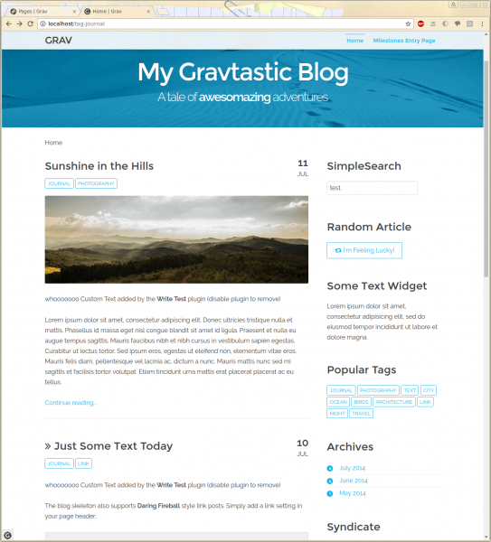 Grav TwentyFifteen Skeleton (a port of WordPress TwentyFifteen theme)