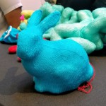 The 3d printer test bunny, in knitted form!